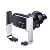 Baseus Mini Electric Car Holder Air Vent Phone Bracket Electric Auto Lock Holder black (SUHW01-01)