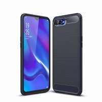 Carbon Case Flexible Cover TPU Case for Oppo RX17 Neo blue