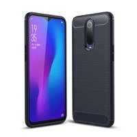 Carbon Case Flexible Cover TPU Case for Oppo RX17 Pro blue