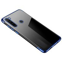Clear Color Case Gel TPU Electroplating frame Cover for Motorola G8 Play blue
