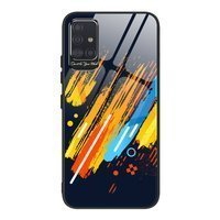Color Glass Case Durable Cover with Tempered Glass Back and camera cover Samsung Galaxy A71 pattern 5