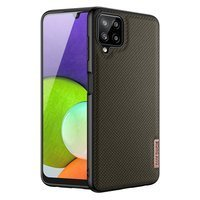 Dux Ducis Fino case covered with nylon material for Samsung Galaxy A22 4G green