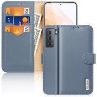 Dux Ducis Hivo Genuine Leather Bookcase type case for Samsung Galaxy S21 5G blue