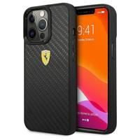 "Ferrari FEHCP13XFCABK iPhone 13 Pro Max 6,7"" czarny/black hardcase On Track Real Carbon"