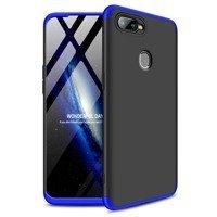 GKK 360 Protection Case Front and Back Case Full Body Cover Oppo AX7 black-blue