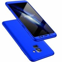 GKK 360 Protection Case Front and Back Case Full Body Cover Samsung Galaxy A8 2018 A530 blue