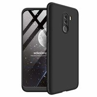 GKK 360 Protection Case Front and Back Case Full Body Cover Xiaomi Pocophone F1 black