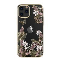 Kingxbar Butterfly Series shiny case decorated with original Swarovski crystals iPhone 12 Pro Max pink