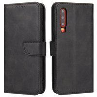 Magnet Case elegant bookcase type case with kickstand for Huawei P30 black
