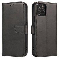 Magnet Case elegant bookcase type case with kickstand for LG K62 / K52 / K42 black