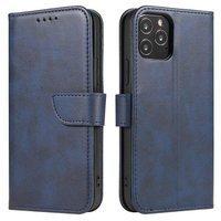 Magnet Case elegant bookcase type case with kickstand for LG K62 / K52 / K42 blue