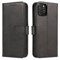 Magnet Case elegant bookcase type case with kickstand for Samsung Galaxy Note 10 Lite black