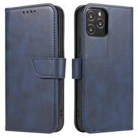 Magnet Case elegant bookcase type case with kickstand for Xiaomi Redmi Note 8T blue