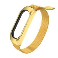 Replacment metal band bracelet strap for Xiaomi Mi Band 6 / Mi Band 5 / Mi Band  4 / Mi Band 3 golden