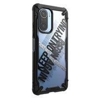 Ringke Fusion X Design durable PC Case with TPU Bumper for Xiaomi Redmi K40 Pro+ / K40 Pro / K40 / Poco F3 / Mi 11i black (Cross) (XDXI0027)
