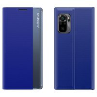 Sleep Case Bookcase Type Case with Smart Window for Xiaomi Redmi Note 10 Pro blue