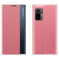 Sleep Case Bookcase Type Case with Smart Window for Xiaomi Redmi Note 10 Pro pink