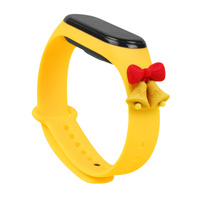 Strap Xmas replacement band strap for Xiaomi Mi Band 4 / Mi Band 3 Christmas holidays yellow (bells)