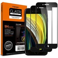TEMPERED GLASS SPIGEN GLASS FC 2-PACK IPHONE 7/8 / SE 2020 BLACK