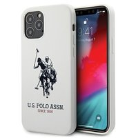 """US Polo USHCP12MSLHRWH iPhone 12/12 Pro 6.1 """"white / white Silicone Collection"""