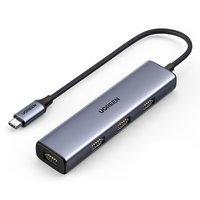 Ugreen USB Type C - 4x USB 3.2 Gen 1 Hub silver (CM473 20841)