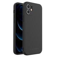 Wozinsky Color Case silicone flexible durable case iPhone XR black