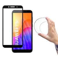 Wozinsky Full Cover Flexi Nano Glass Hybrid Screen Protector with frame for Huawei Y5p black