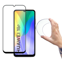 Wozinsky Full Cover Flexi Nano Glass Hybrid Screen Protector with frame for Huawei Y6p black