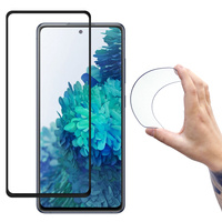 Wozinsky Full Cover Flexi Nano Glass Hybrid Screen Protector with frame for Samsung Galaxy S20 FE 5G black