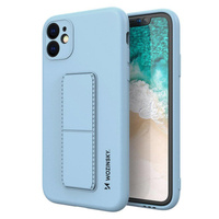 Wozinsky Kickstand Case flexible silicone cover with a stand Samsung Galaxy A51 5G / Galaxy A51 light blue