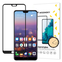 Wozinsky Tempered Glass Full Glue Super Tough Screen Protector Full Coveraged with Frame Case Friendly for Huawei P20 Pro black