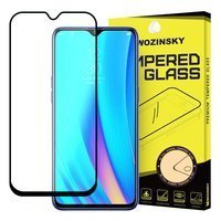Wozinsky Tempered Glass Full Glue Super Tough Screen Protector Full Coveraged with Frame Case Friendly for Realme 3 Pro black