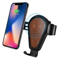 iCarer wireless car Qi charger 10W air vent gravity car mount brown (IWXC004-BN)