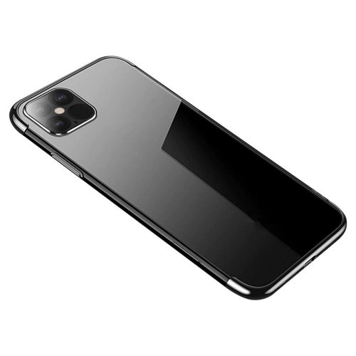 Clear Color Case Gel TPU Electroplating frame Cover for Samsung Galaxy S21 Ultra 5G black