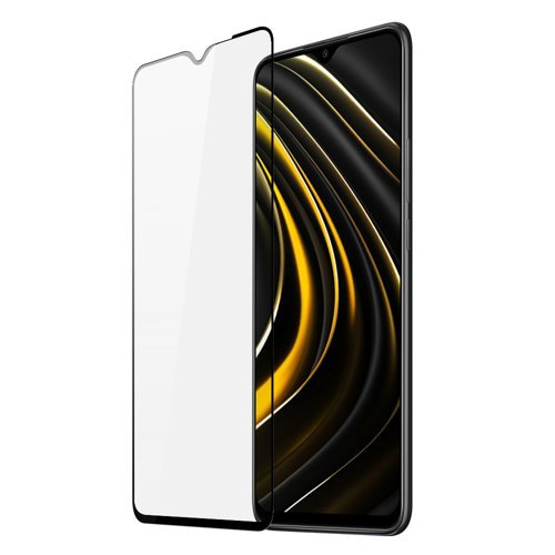 Dux Ducis 9D Tempered Glass Tough Screen Protector Full Coveraged with Frame for Xiaomi Poco M3 black (case friendly)