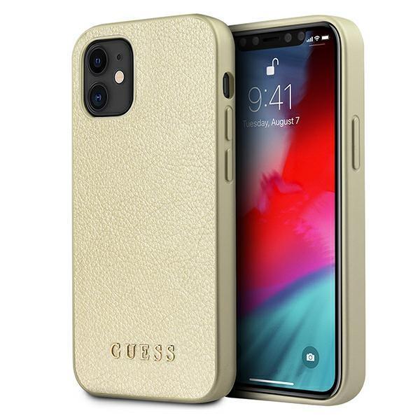"Guess GUHCP12SIGLGO iPhone 12 mini 5.4 ""gold / gold hardcase Iridescent"