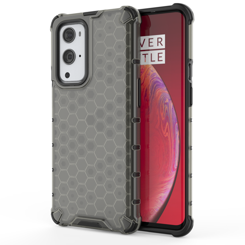 Honeycomb Case armor cover with TPU Bumper for OnePlus 9 Pro black
