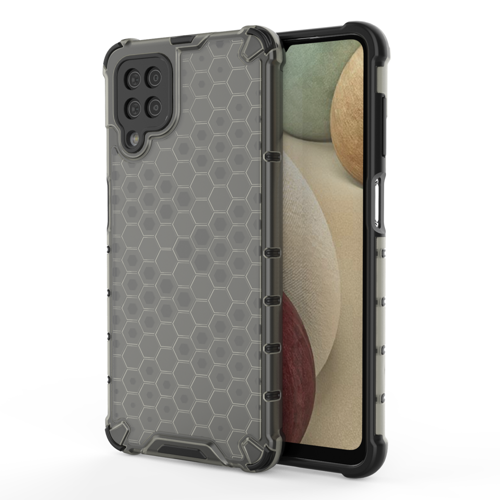 Honeycomb Case armor cover with TPU Bumper for Samsung Galaxy A12 / Galaxy M12 black