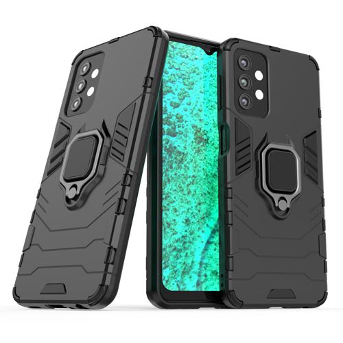 Ring Armor Case Kickstand Tough Rugged Cover for Samsung Galaxy A32 5G black