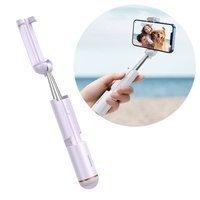 Baseus mini selfie stick teleskopowy rozsuwany kijek do selfie z pilotem Bluetooth fioletowy (SUDYZP-G05)