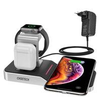 Choetech ładowarka bezprzewodowa Qi MFI stacja ładująca do telefonu / Apple Watch / AirPods 10W czarny (T316)