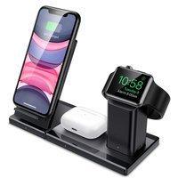 ESR bezprzewodowa ładowarka stacja ładująca 3 w 1 do telefonu / Apple Watch / Apple Airpods czarna (15898-0)
