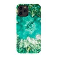 Kingxbar Agate Series eleganckie etui pokrowiec z nadrukiem agat iPhone 12 Pro Max zielony