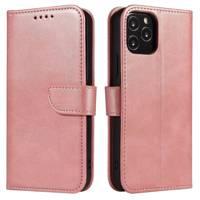 Magnet Case elegancki futerał etui pokrowiec z klapką i funkcją podstawki Samsung Galaxy M51 różowy