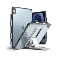 Ringke Fusion Combo Outstanding sztywne etui z żelową ramką do iPad Air 2020 + samoprzylepna podstawka szary (FC485R39)
