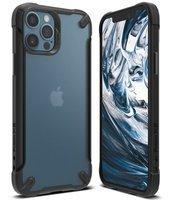 Ringke Fusion X2 pancerne etui pokrowiec z żelową ramką iPhone 12 Pro / iPhone 12 czarny matowy (XMAP0007)