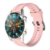 Silikonowy pasek do zegarka smartwatcha Huawei Watch GT / GT2 / GT2 Pro różowy