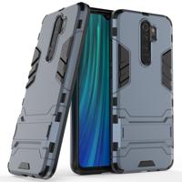Stand Armor pancerne hybrydowe etui pokrowiec + podstawka Xiaomi Redmi Note 8 Pro niebieski