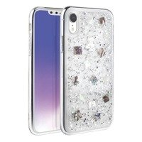 UNIQ etui Lumence Clear iPhone Xr srebrny/Perivvinkle silver