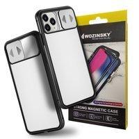 Wozinsky Magnetic Cam Slider Case magnetyczne etui 360 na cały telefon szkło na ekran osłona na aparat Huawei P40 Lite 5G czarny